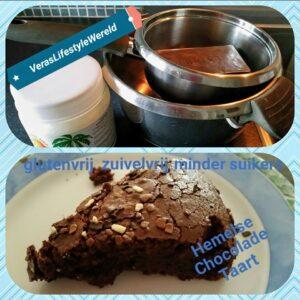 Hemelse chocoladetaart met minder suiker, zuivelvrij, glutenvrij
