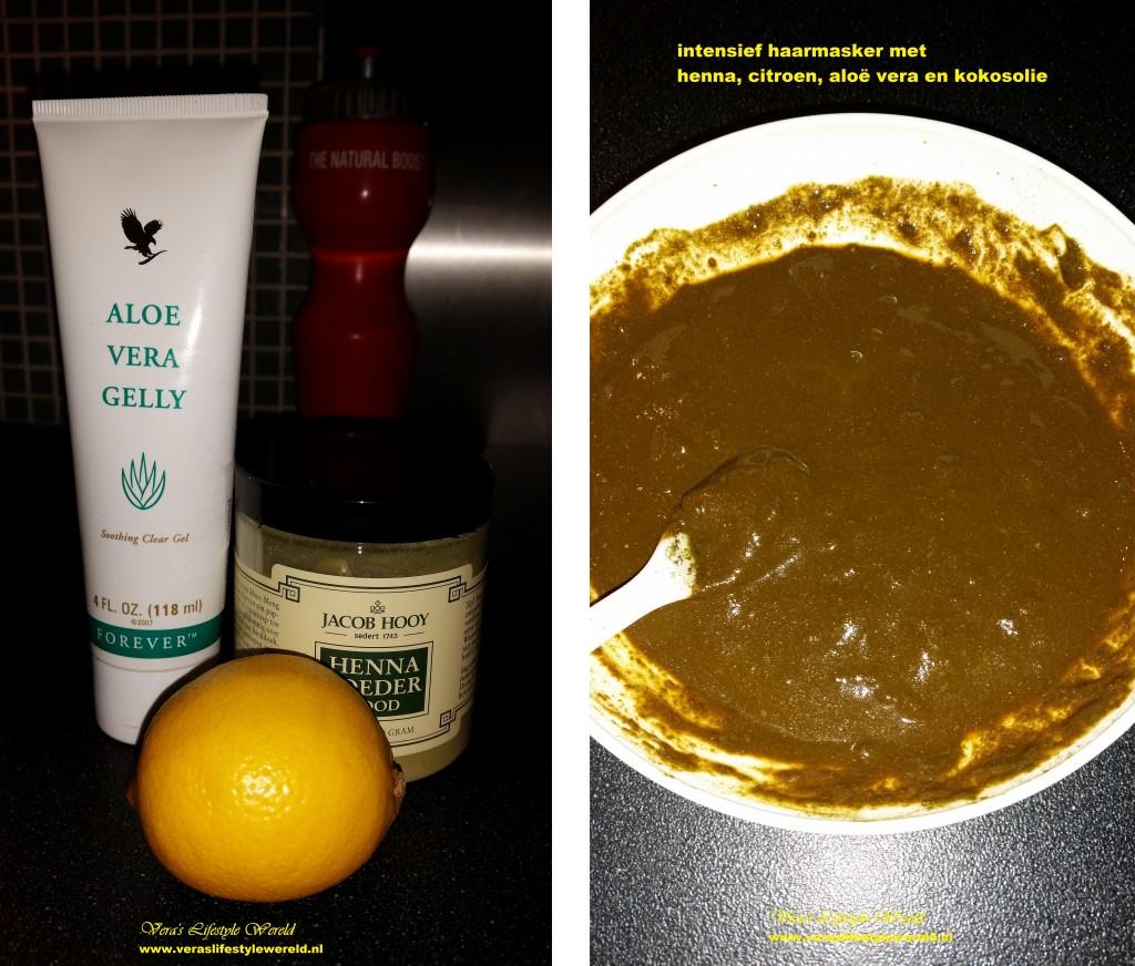 haarmasker met henna, citroen en aloe vera