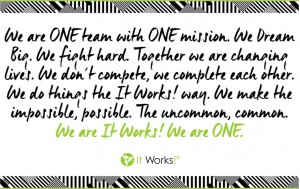 2016-1 we are it works we are one