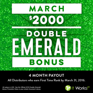 2016-3 double emerald bonus