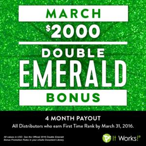 2016-3 double emerald bonus