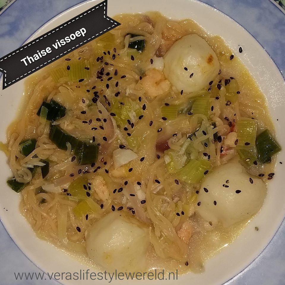 Thaise vissoep - ketovriendelijk en geschikt voor lage koolhydraten. Pak jouw gezondere leefstijl op bij Vera's Lifestyle Wereld