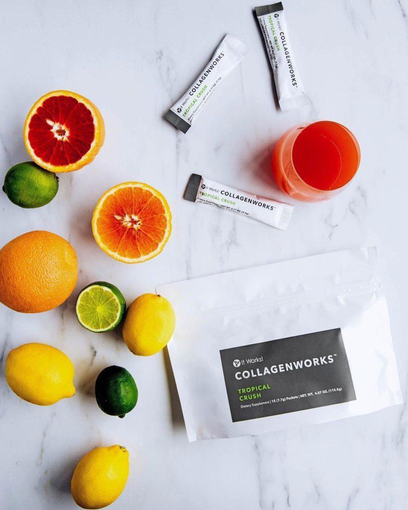 CollagenWorks - 5 typen collageen en fruitzuren helpen jouw bindweefsel te ondersteunen.