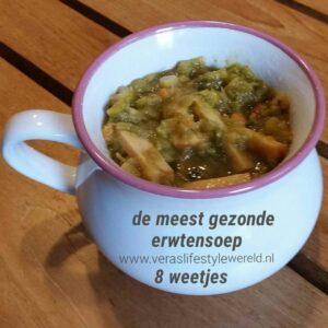 , Recept Gezondere Erwtensoep met kip of vegan, Vera's Lifestyle Wereld