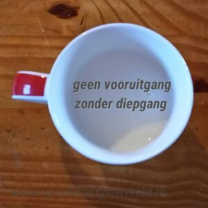 Geen vooruitgang zonder diepgang. Kijk eens op www.veraslifestylewereld.nl onder blogcategorie 'Een beter mens en ouder'