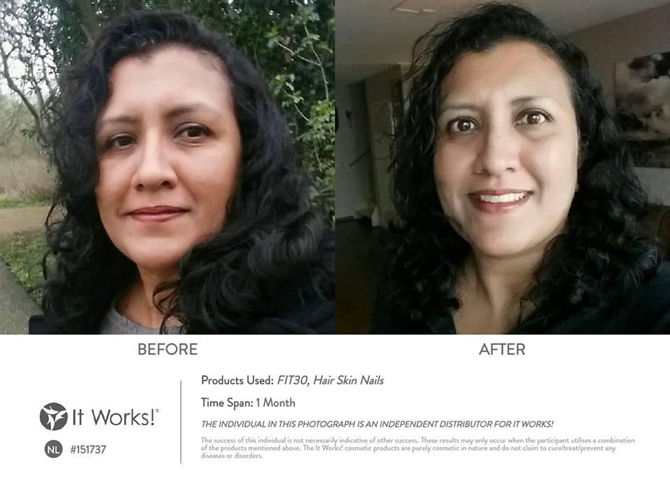 Slechts 1 maand verder met de FIT30 en Hair Skin Nails van It Works. Start ook jouw fit programma bij Vera's Lifestyle Wereld!