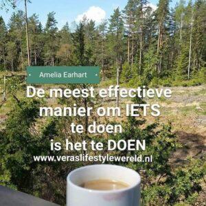 Amelia Earhart - De meest effectieve manier om iets te doen is het te doen