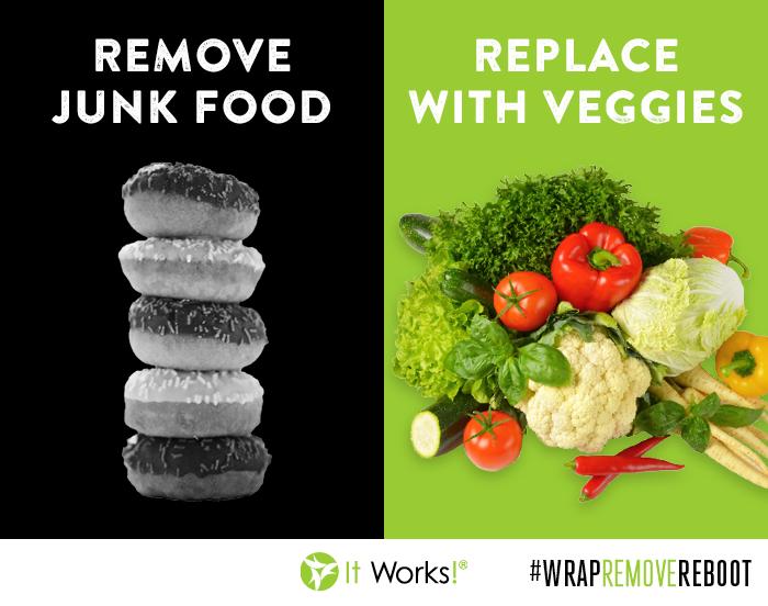 Op naar fitter? Vervang junk food door groenten.