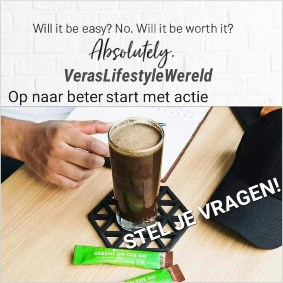 Op naar beter start met actie. Pak het It Works assortiment, tips, recepten en online coaching op bij Vera's Lifestyle Wereld.