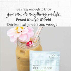 Drinken tot je een ons weegt - Keto Coffee It Works helpt afvallen, de vetverbranding in en beter concentreren