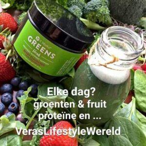 Let op jouw groenten, fruit en proteïnen. Elke dag, bij elke maaltijd en snack. Vul aan met supplementen.
