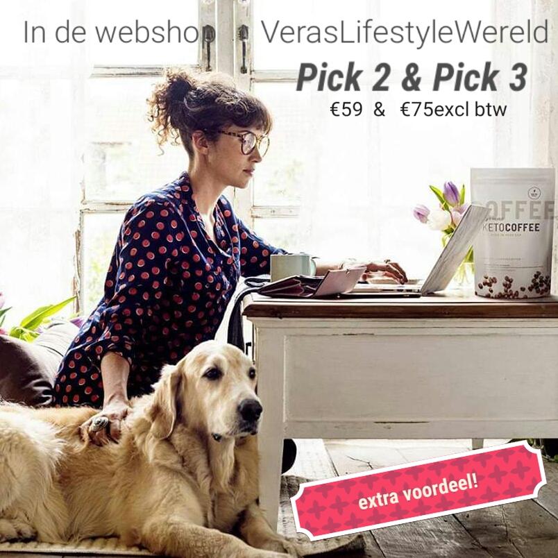 Extra online voordeel in de webwinkel van Vera's Lifestyle Wereld op een deel van het It Works assortiment. Kies uit de Pick 2 & Pick 3!