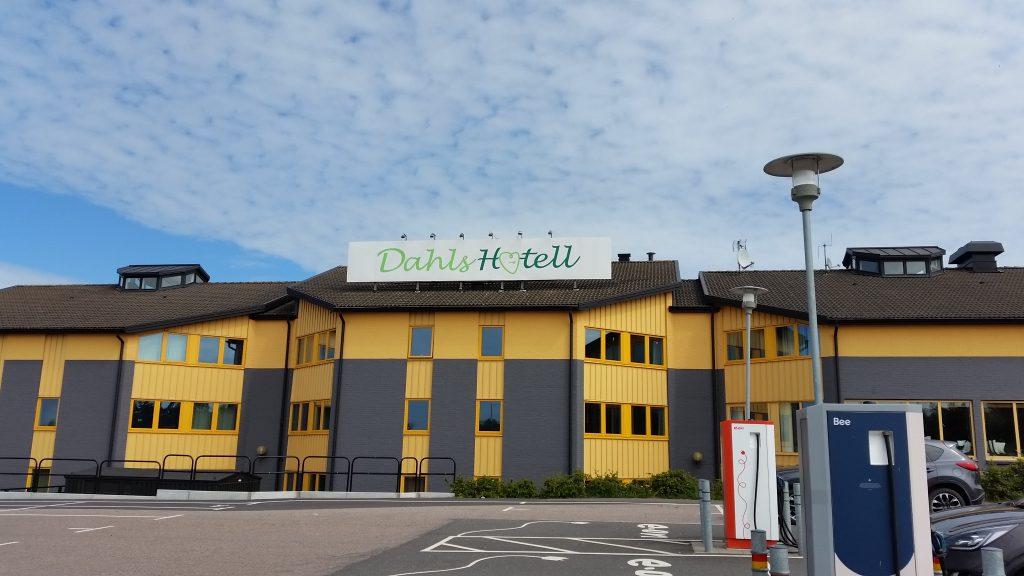 Pauze bij het Dahls Hotell in Falkenberg, Zweden