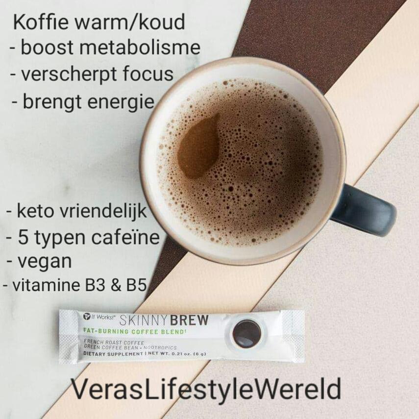Een koffie zwart die je warm of koud kunt drinken en jouw metabolisme verbetert, je focus verscherpt en energie brengt? Met slechts 1 kopje koffie per dag? Kijk in de webwinkel op Vera's Lifestyle Wereld.