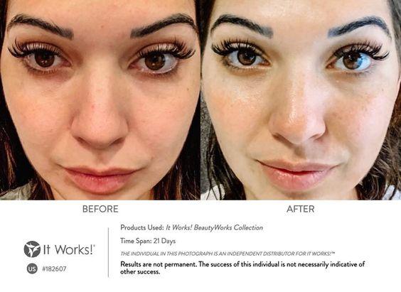 In slechts dagen meer definitie en een veerkrachtige, egale huid met de It Works BeautyWorks Collection