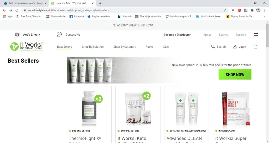 Zo kan de webwinkel van Vera's Lifestyle Wereld uitzien. Pak je info over het trouwe klantenlidmaatschap en profiteer van het scherpe online voordeel.