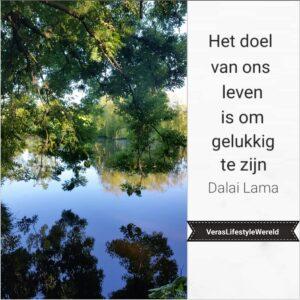 Het doel van ons leven is om gelukkig te zijn - Dalai Lama