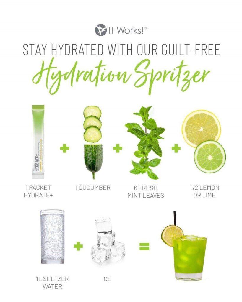 Komkommer & Munt Mocktail Recept, meer profijt van jouw supplement, extra hydraterend!