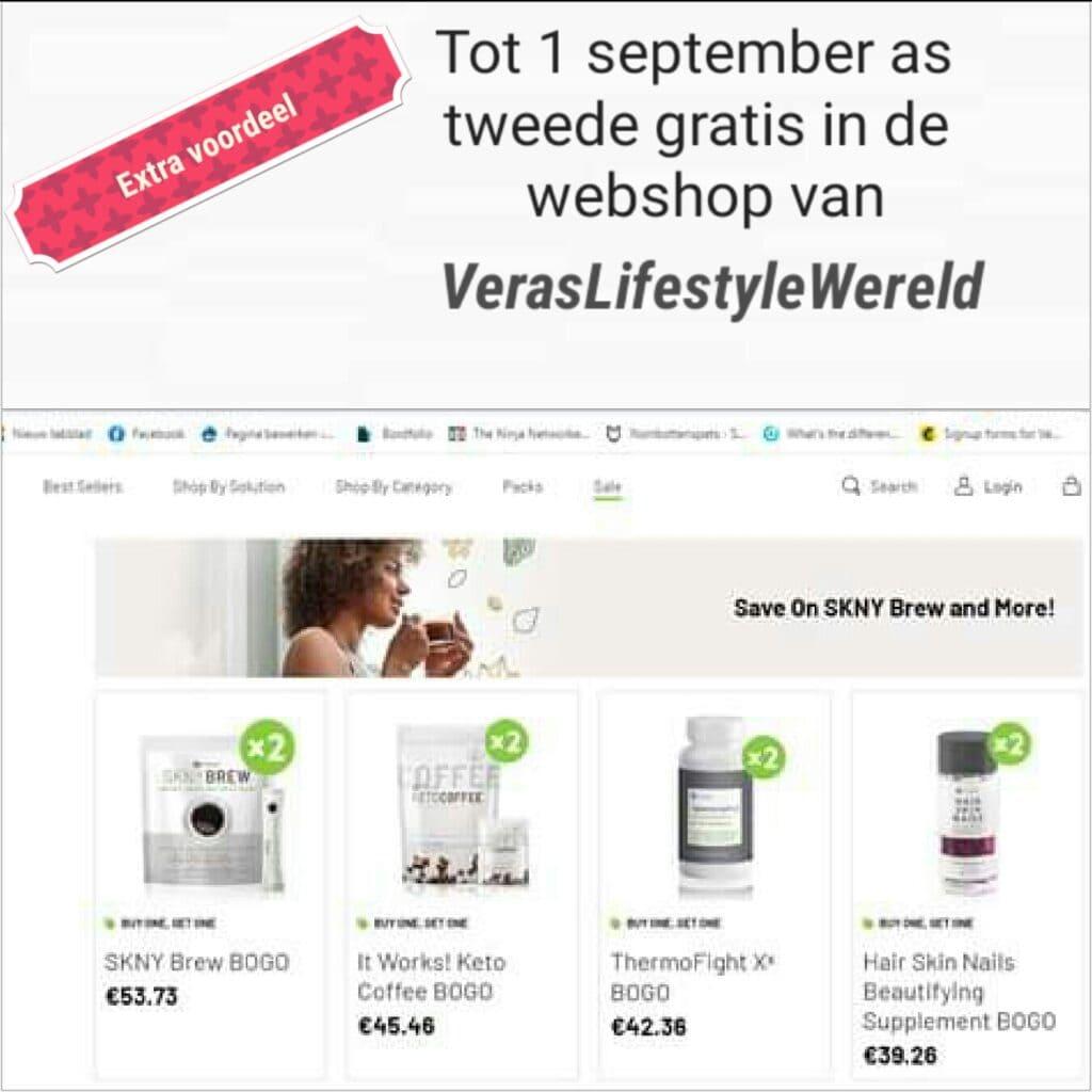 BOGO - tweede gratis van It Works in de webshop van VerasLifestyle Wereld