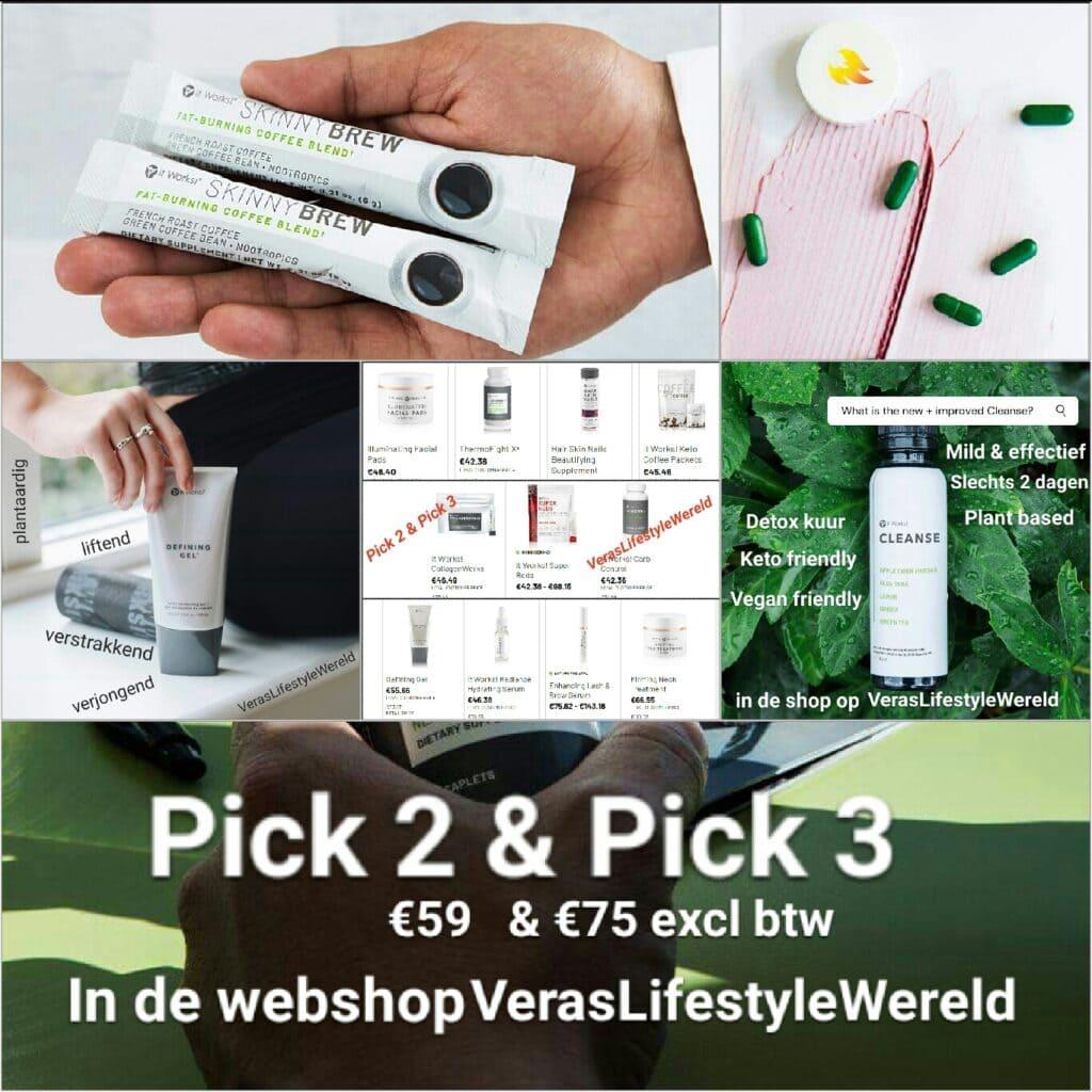 Scherp online voordeel Pick 2 & Pick 3 in de webshop op Vera's Lifestyle Wereld