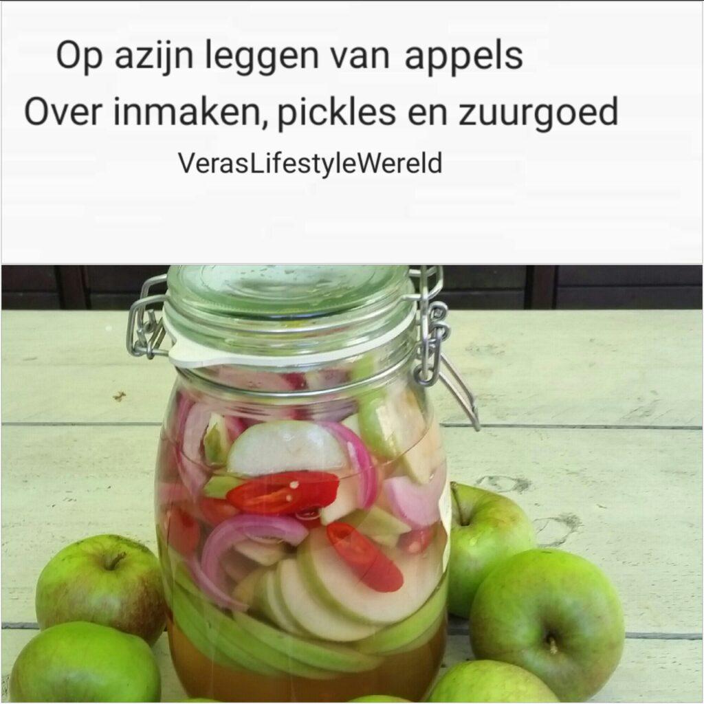 Recept op azijn leggen van appels - over inmaken, pickles en zuurgoed