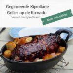 Geglaceerde kiprollade recept - Grillen op de kamado