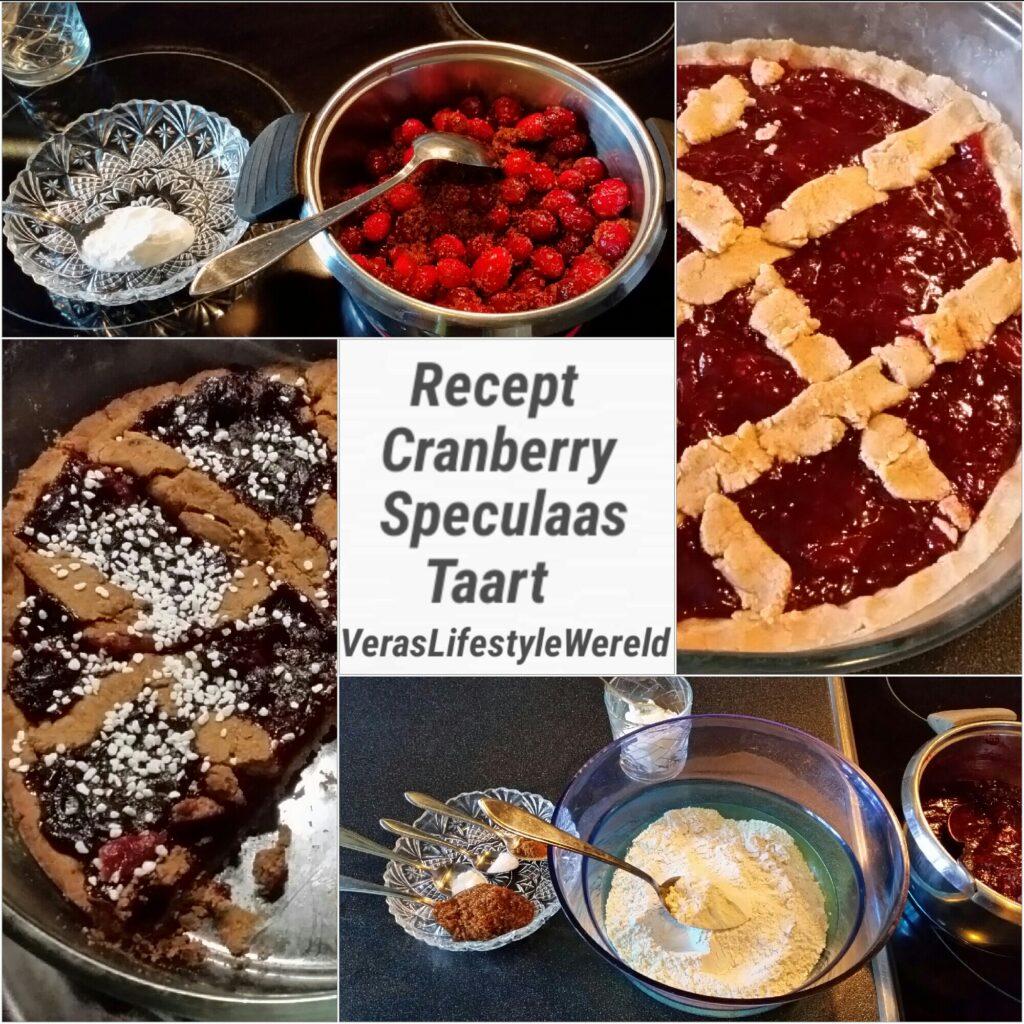 Recept Cranberry Speculaas Taart - Minder suikers Glutenvrij Vegan