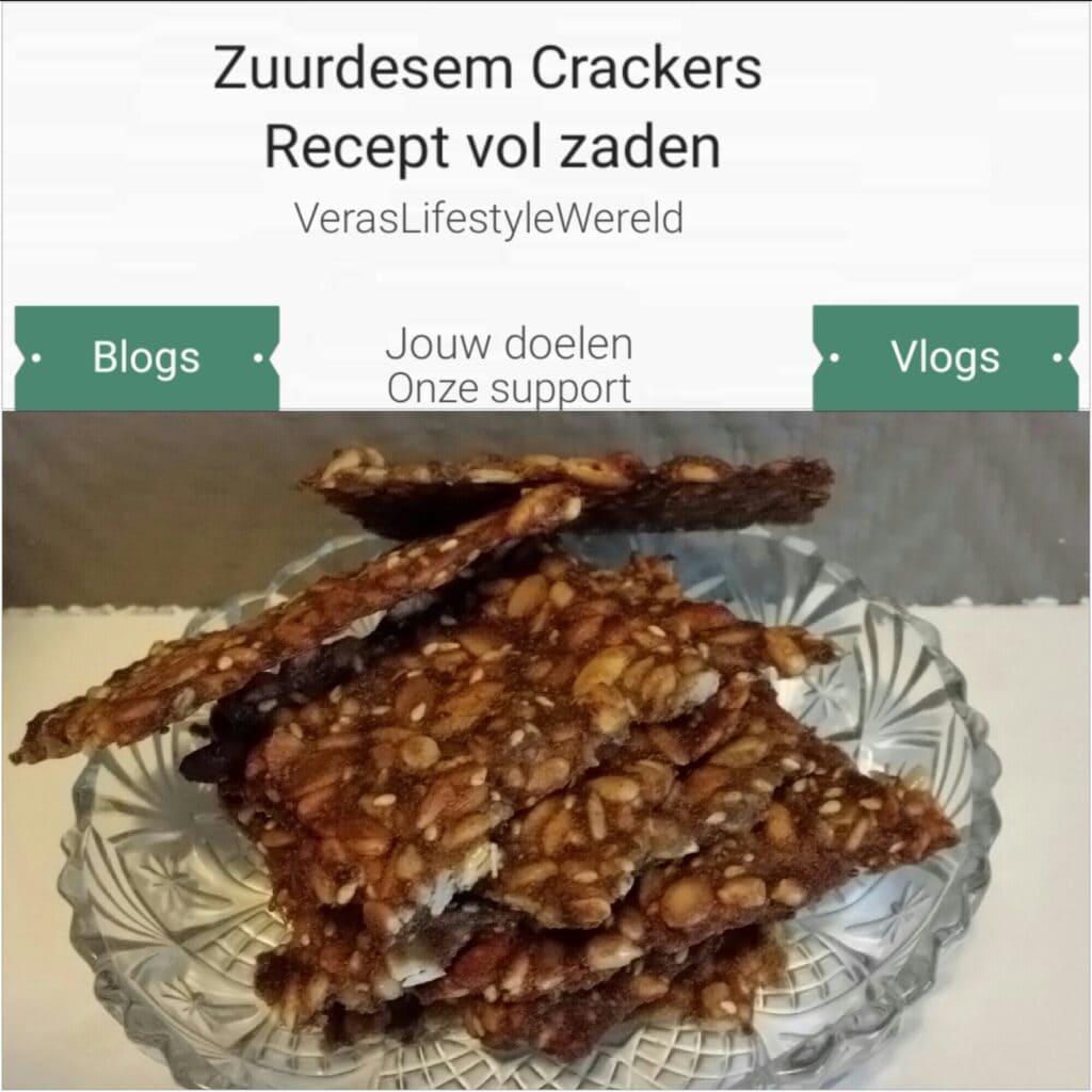 Zuurdesemcrackers - Recept vol zaden