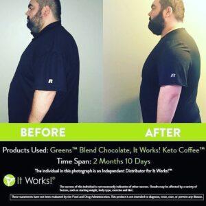 Ook mannen zien resultaten met It Works!
