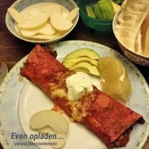 Kindvriendelijke tortillawrap