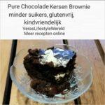 Glutenvrije Chocolade Kersen Brownie