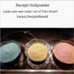 Recept holipoeder voor een color run of foto shoot