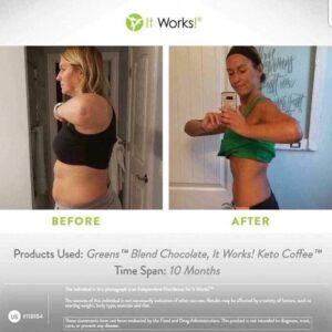Voor en na It Works supplementen