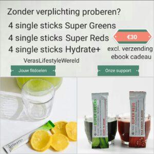 Zonder verplichtingen It Works Super Greens, Super Reds en Hydrate proberen